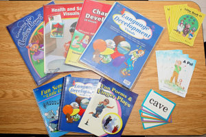 Children's book and flash cards