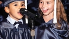 two kids sung their song